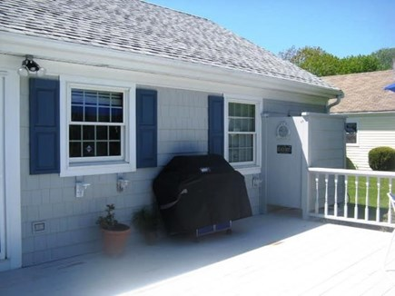 Falmouth Cape Cod vacation rental - Deck with BBQ grill and outdoor shower