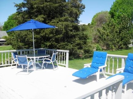 Falmouth Cape Cod vacation rental - Sun splashed deck for dining or relaxing