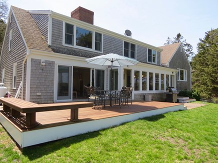 Orleans Cape Cod vacation rental - Roomy back deck