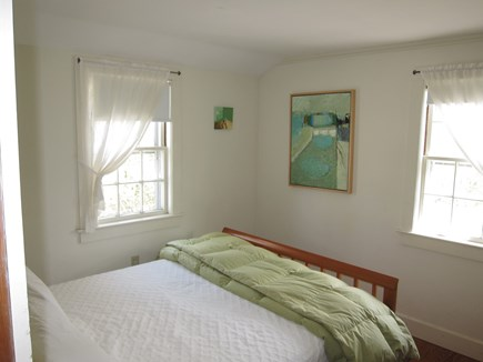Chatham village Cape Cod vacation rental - Bedroom with queen size bed. Window air conditioner.