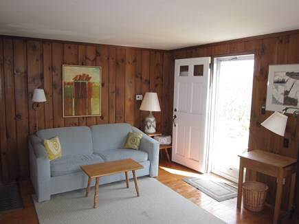 Chatham village Cape Cod vacation rental - Living room with double size sleep sofa.