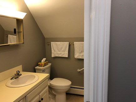 Orleans Cape Cod vacation rental - Upper bathroom with tub/shower