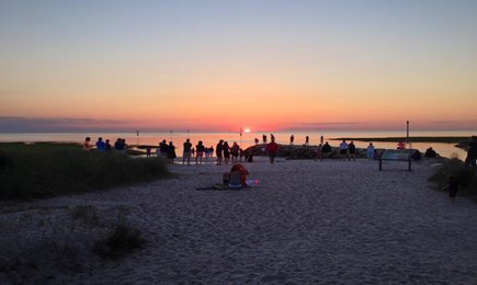 Orleans Cape Cod vacation rental - Sunset at Rock Harbor, 5 minute drive