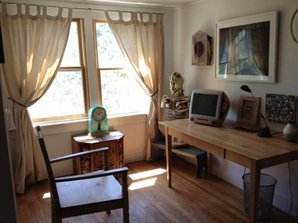 North Truro Cape Cod vacation rental - Bedroom three: upstairs with desk and views