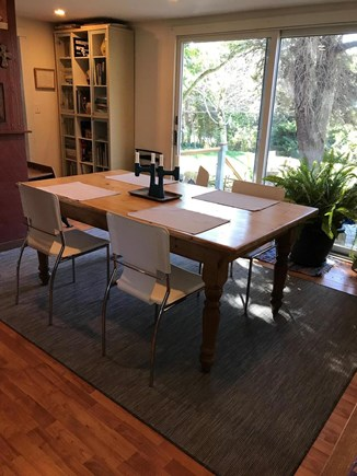 North Truro Cape Cod vacation rental - Dining room with sliders to back