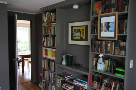 North Truro Cape Cod vacation rental - Bedroom one: downstairs with books