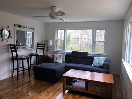 Falmouth, Teaticket Cape Cod vacation rental - Living Room with 50' flat Screen tv and sleep sofa