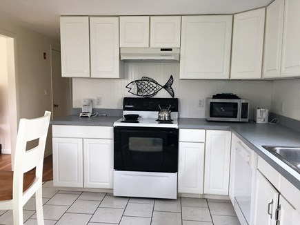 Falmouth, Teaticket Cape Cod vacation rental - Kitchen with full range, microwave, coffee maker