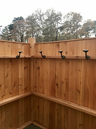 Yarmouth Port Cape Cod vacation rental - New Outdoor Shower with handheld separate shower head