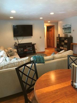 Yarmouth Port Cape Cod vacation rental - Living room/eat-in kitchen with hi-def television