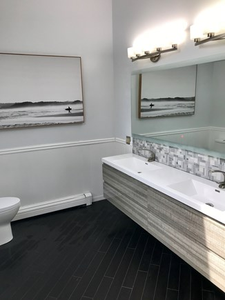 Yarmouth Port Cape Cod vacation rental - Remodeled Master Bath w/ floating vanity and LED lighted mirror