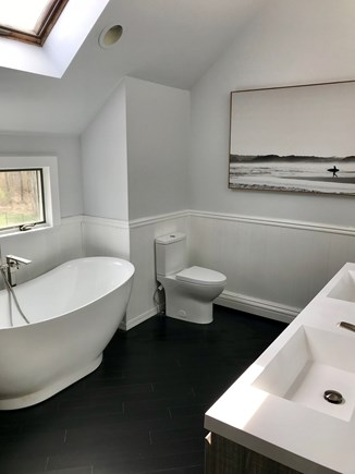 Yarmouth Port Cape Cod vacation rental - Master Bath with freestanding tub and separate shower