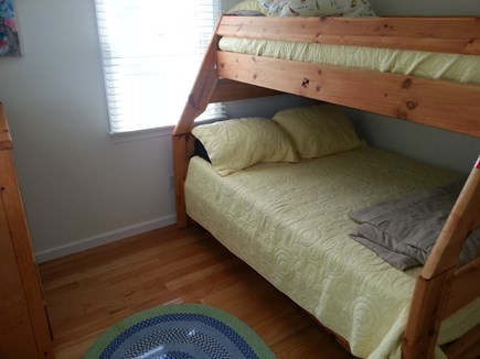 Bourne, Monument Beach Cape Cod vacation rental - Bedroom on first floor with full and twin bunk beds