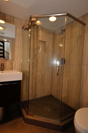Provincetown Cape Cod vacation rental - Large glass enclosed shower .