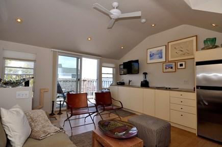 Provincetown Cape Cod vacation rental - Living room looking out thru sliders