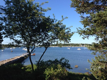 West Falmouth Cape Cod vacation rental - Sunny day looking out over the water and dock