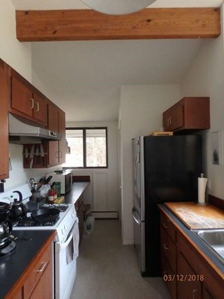West Falmouth Cape Cod vacation rental - Fully equipped galley Kitchen right off the Living-Dining area
