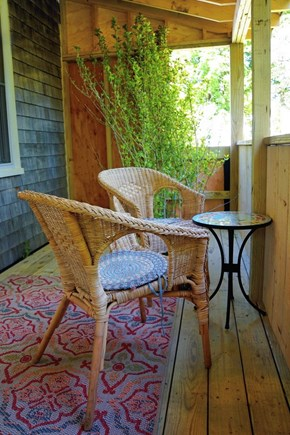 Wellfleet Cape Cod vacation rental - Enjoy morning coffee on your screen-in farmers porch