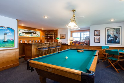Orleans, Chatham  Cape Cod vacation rental - Downstairs game room with pool table and bar