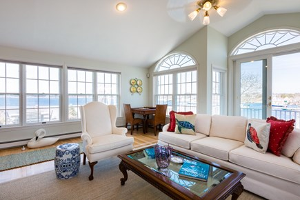 Orleans, Chatham  Cape Cod vacation rental - Elegant living room with deck and water views