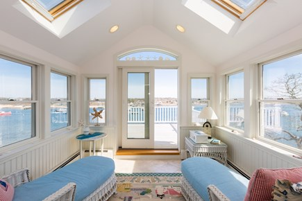 Chatham  Cape Cod vacation rental - Sunroom and deck with panoramic views over the water