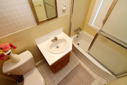 Orleans Cape Cod vacation rental - Main Bath with tub.  Second bath downstairs has walk in shower.
