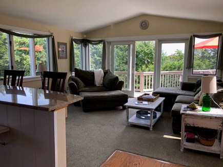 Orleans Cape Cod vacation rental - Living room has comfortable seating for 8 and a breakfast bar.