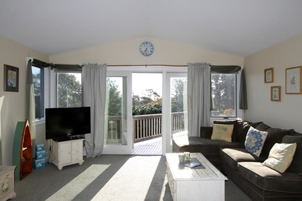 Orleans Cape Cod vacation rental - Enjoy the spacious living room or walk out to the sunny deck.