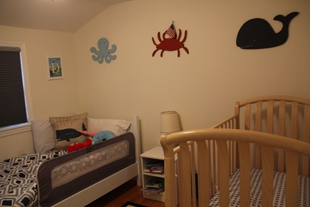 East Falmouth (Great Harbors) Cape Cod vacation rental - Bedroom 4 (Twin and Crib): Upstairs