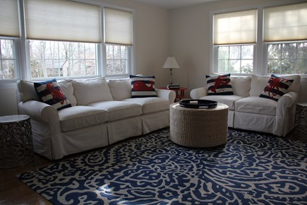 East Falmouth (Great Harbors) Cape Cod vacation rental - Living Room.  Faces south - tons of light!