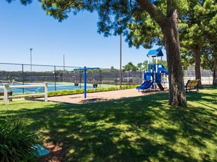 East Falmouth (Great Harbors) Cape Cod vacation rental - Playground and Tennis by the Bay, both next to the pool!