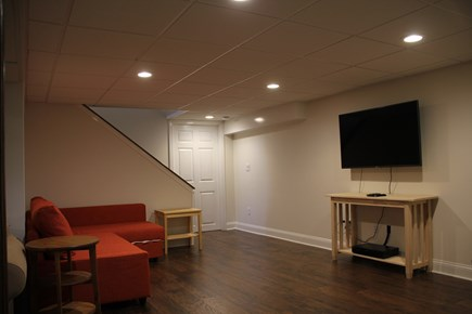 East Falmouth (Great Harbors) Cape Cod vacation rental - Basement: 2 pullout couches and a twin.  Amazon FireStick and DVD