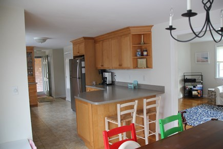 East Falmouth (Great Harbors) Cape Cod vacation rental - Open Kitchen - great for socializing and cooking at same time.