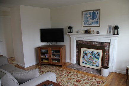 East Falmouth (Great Harbors) Cape Cod vacation rental - Den.  Cable TV and AppleTV.