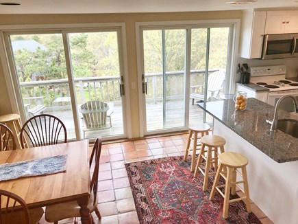 Brewster Cape Cod vacation rental - Kitchen/dining area & deck