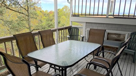Brewster Cape Cod vacation rental - Top level covered deck w/bay view
