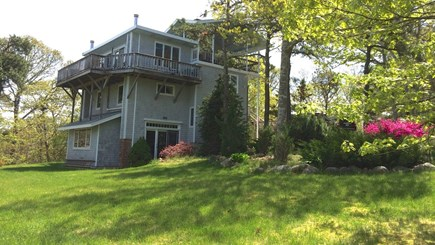 Brewster Cape Cod vacation rental - Sloping back yard