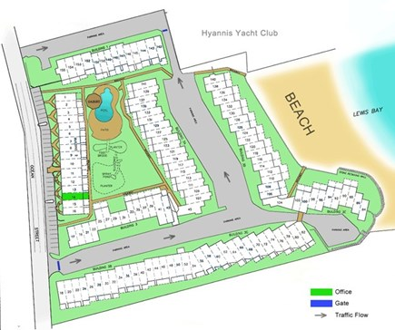 Hyannis Cape Cod vacation rental - Map of complex
