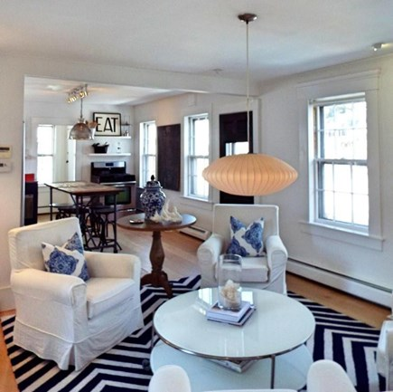 Provincetown Cape Cod vacation rental - The sitting area off the kitchen