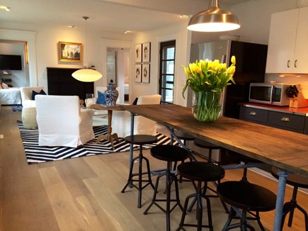 Provincetown Cape Cod vacation rental - The open kitchen and sitting area.