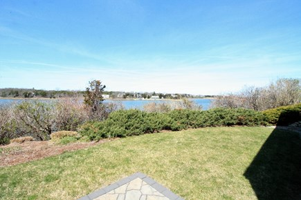 Orleans Cape Cod vacation rental - Fire pit area overlooks Town Cove