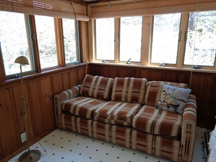 Wellfleet Cape Cod vacation rental - Sofa in porch