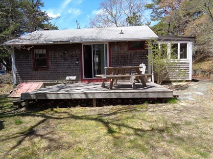 Wellfleet Cape Cod vacation rental - Back deck - no railing