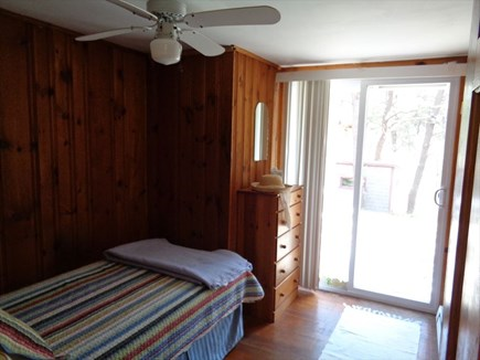 Wellfleet Cape Cod vacation rental - Twin bedroom with sliders to deck - only way to deck from inside