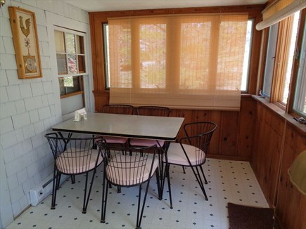 Wellfleet Cape Cod vacation rental - Dining area in porch