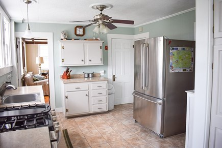 West Dennis Cape Cod vacation rental - Kitchen to Living Room