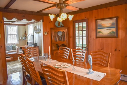 West Dennis Cape Cod vacation rental - Dining Room off Living and Sunrooms
