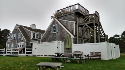 West Dennis Cape Cod vacation rental - House view from Horse Shoe Pit