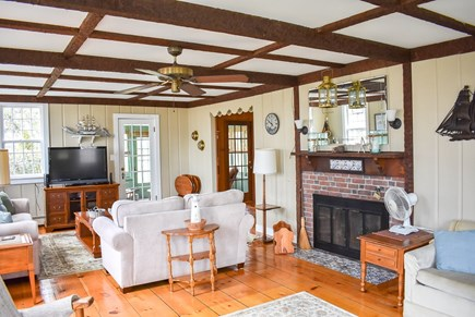 West Dennis Cape Cod vacation rental - Living Room full view