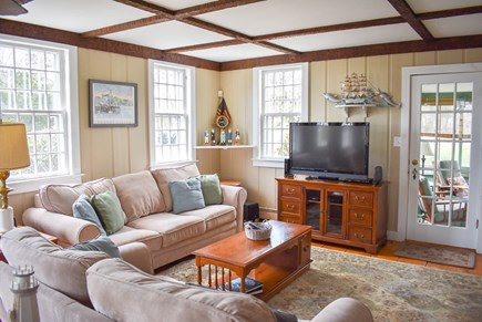 West Dennis Cape Cod vacation rental - Living Room TV area